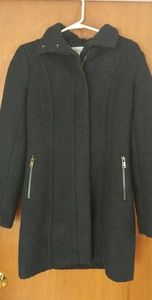 H and M Size 2/34 Short Wool-blend Coat in Navy